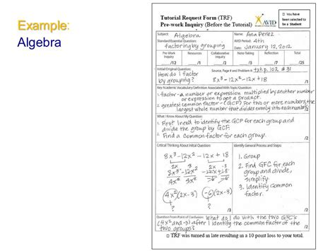 math tutorial questions for avid the tutorial process ppt video online download