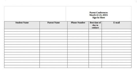 sle sign in sheet in pdf 11 exles in pdf