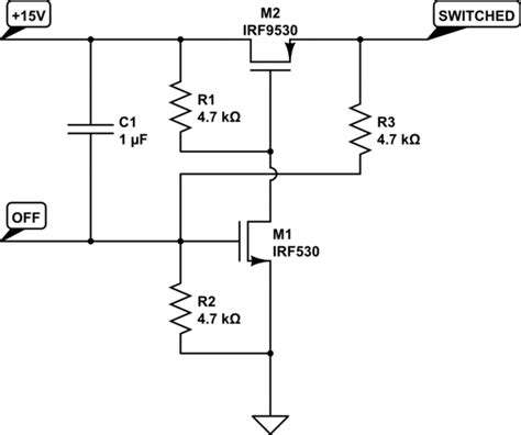 fet transistor switch circuit switches default on latch mosfet power switch electrical engineering stack exchange