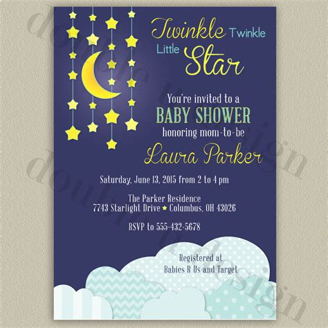 Twinkle Baby Shower Invitations by Twinkle Twinkle Baby Shower Invitation Printable