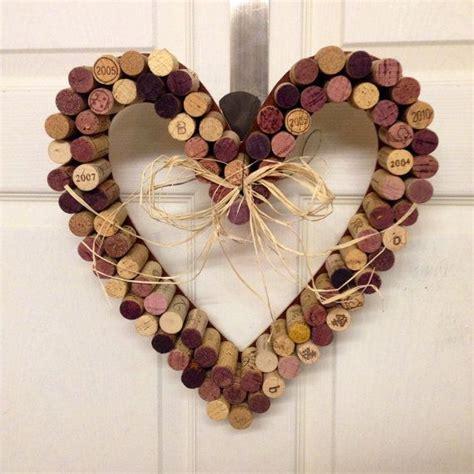 shaped wreath cork wreath wine home decor wreath on