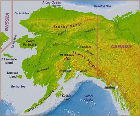 physical map of alaska photo gallery ascent of denali mount mckinley in