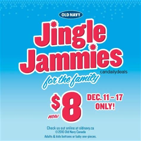 Old Navy Sweepstakes Delivery - canadian daily deals old navy canada jingle jammies for the family 8 dec 11 17
