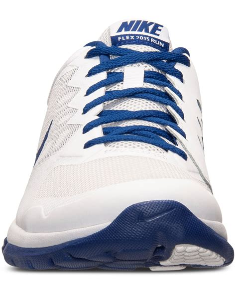 nike blue and white running shoes nike s flex run 2015 running sneakers from finish line