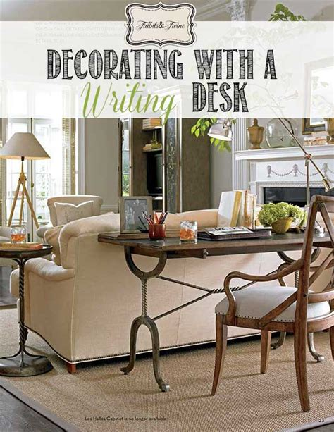 how to decorate a desk the writing desk a stylish solution tidbits twine