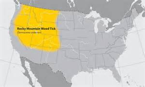 Rocky Mountains Usa Map by Geographic Distribution Of Ticks That Bite Humans Ticks