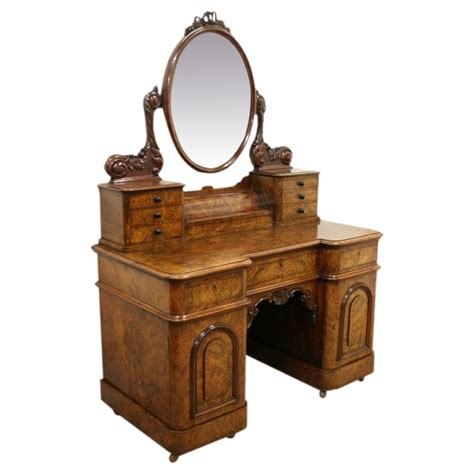 Bench Lights Exhibition Quality Victorian Burr Walnut Dressing Table