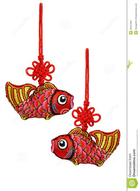 fish and co new year new year prosperity fish ornaments stock photo