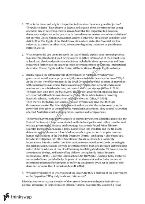 Engaging Essays In Analysis Pdf by Engaging With Politics Essay 1003ccj Government And Policy Thinkswap