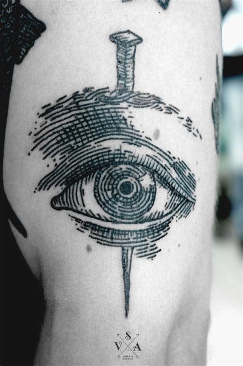 tattoo ink has bled andrey svetov eye i like this tattoo style ink