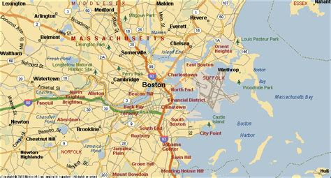 map of boston area boston surrounding area pictures to pin on pinsdaddy