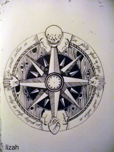 compass tattoo girl tumblr windrose on tumblr