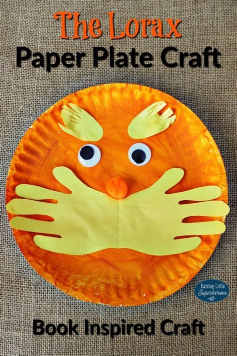 Paper Plate Craft Book - the lorax paper plate craft paper plate crafts lorax