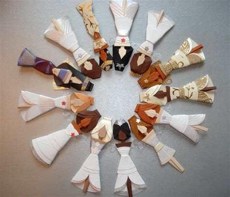 Origami Wedding Cake - my paisley world origami wedding cake toppers