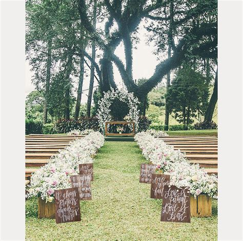 Wedding Aisle Signs by Rustic Wedding Aisle Signs From Mulberry Market Design