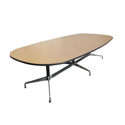 Herman Miller Meeting Table Eames Meeting Table 10 Ft Herman Miller Eames Walnut Racetrack Conference Table At 1stdibs
