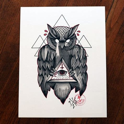 owl illuminati owl of wisdom print artworks illuminati owl