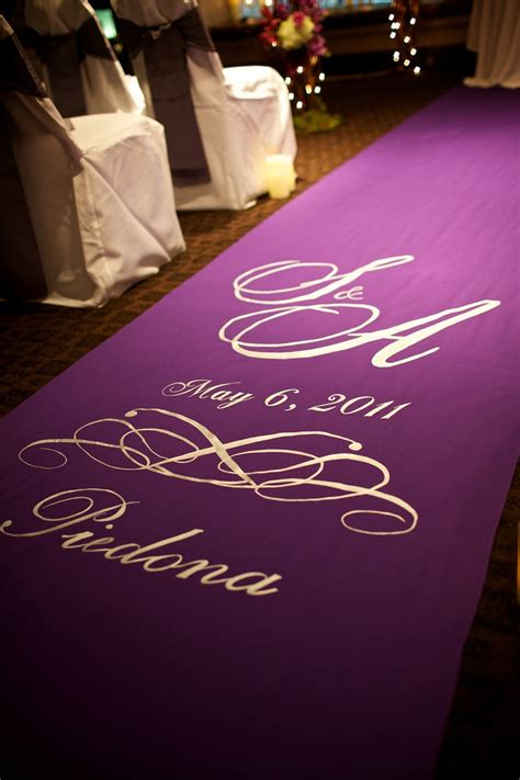 Lavender Wedding Aisle Runner purple aisle runner 單品 走道aisle runner