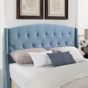 plush velvet headboard blue walmart
