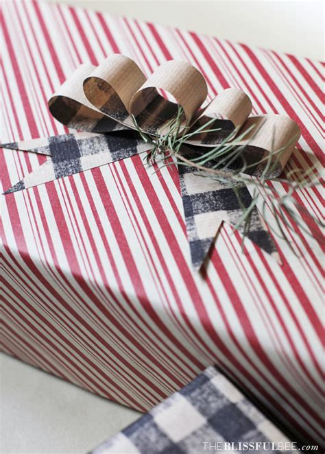 Bows Out Of Wrapping Paper - diy wrapping paper bow the blissful bee
