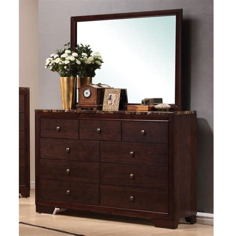marble top dresser bedroom set the stylish for your reference 19 conner elegant bedroom dresser mirror walnut finish w