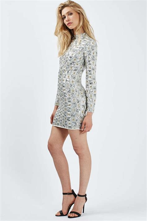 Promo Dress Mini J452 Limited Edition limited edition sequin embellished mini dress the pretty we topshop europe
