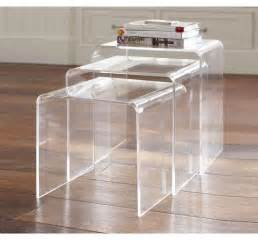 Perspex Side Table 3pc Acrylic Perspex Nesting Tables Side Coffee Table Set Display Steps Clear New Ebay
