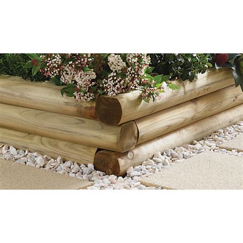 Travis Perkins Sleepers by Wickes Shaped Garden Sleeper 108 X 127mm X 1 8m