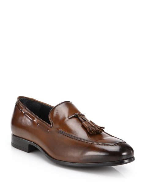 to boot loafers to boot flannery leather tassel loafers in brown for