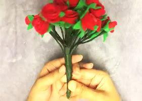 Bunga Flanel Besar cara membuat buket bunga mawar dari kain flanel mudah dan