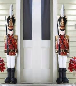 traditional tin soldier outdoor christmas metal porch wall