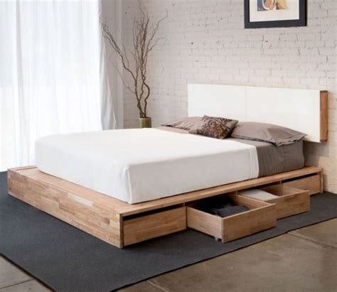 platform bed frames storage houten bed met lades i my interior