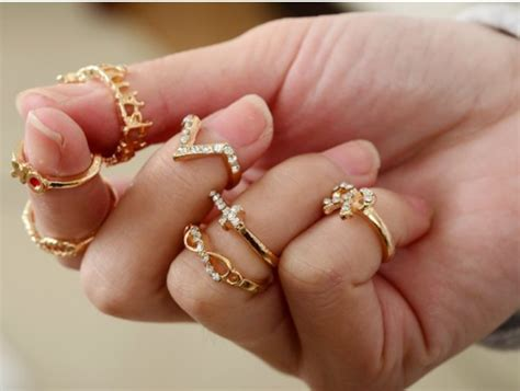 7pcs 1sets gold p bowknot infinity cross