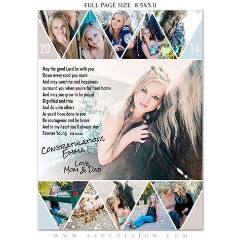 Senior Yearbook Ads Photoshop Templates Pennant High Senior Yearbook Ad Templates Free