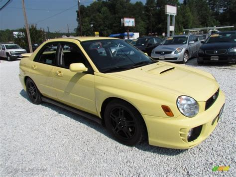 yellow subaru wrx blaze yellow 2002 subaru impreza wrx sedan exterior photo