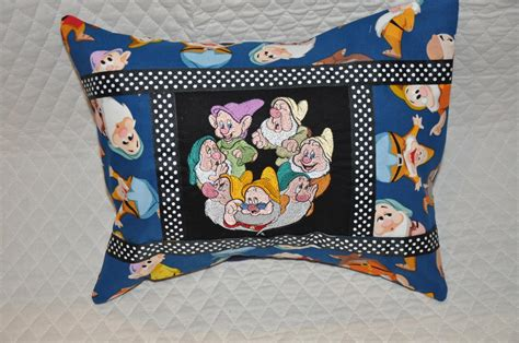 Pillow Embroidery Designs by Pillow With Seven Dwarfs Embroidery Design