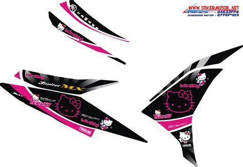 Striping Yamaha Mio Hello Kity2 striping yamaha new jupiter mx hello kity stikermotor net stikermotor net
