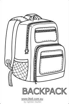 Printables School Is Cool On Pinterest Clip Art Back To School And Coloring Pages Printable Backpack Template
