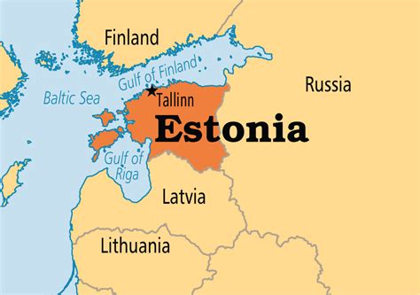 estonia on world map estonia operation world
