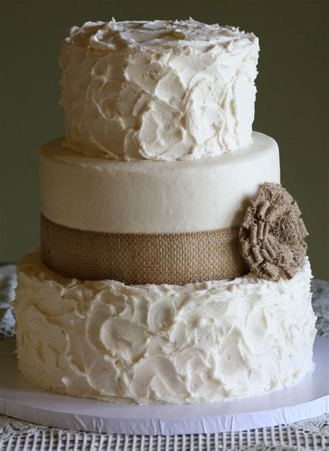 Wedding Cake Bc by Rustic Wedding Cake With Burlap Ribbon And Flower I Like