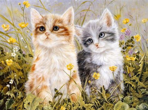 painting kitten kitten paintings shirley deaville