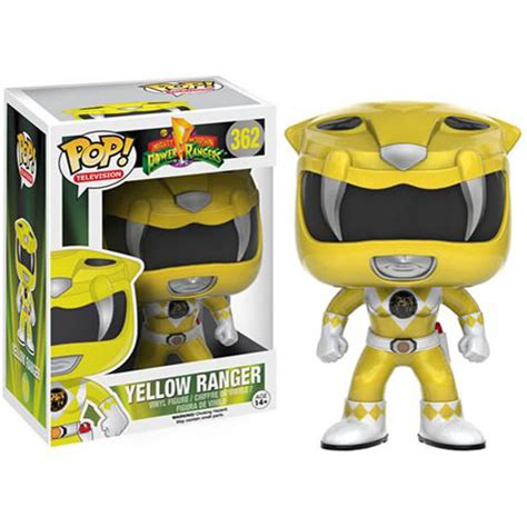 Limited Edition Kaos Mighty Morphin Power Rangers Yellow Laris mighty morphin power rangers yellow ranger pop vinyl figure pop in a box uk