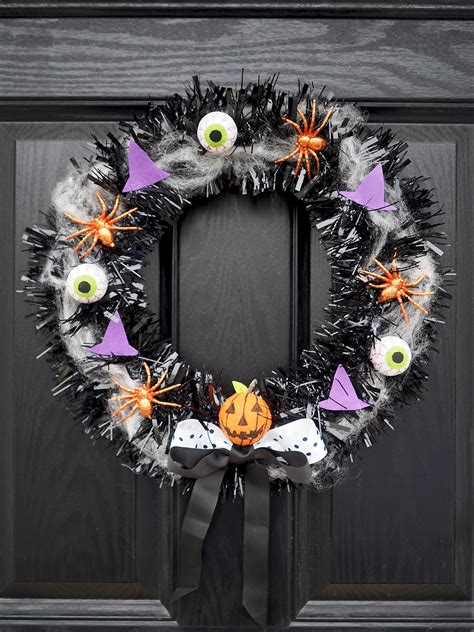 halloween door wreath diy tutorial bang