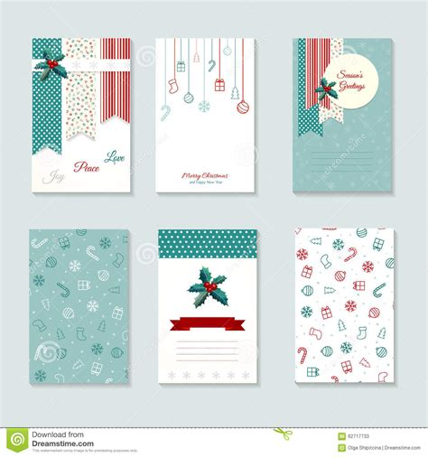 Paper Wishes Card Templates by Card Template Set Stock Illustration Image