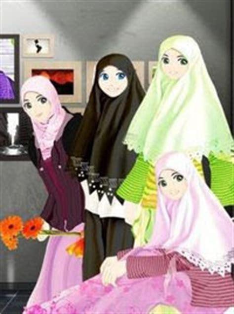 wallpaper animasi muslimah berjilbab gambar kartun wanita berjilbab lucu imut gambar foto