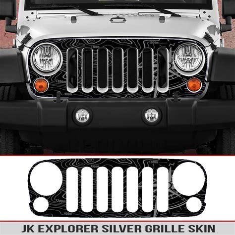 jeep grill sticker jeep wrangler jk grille skin explorer map alphavinyl