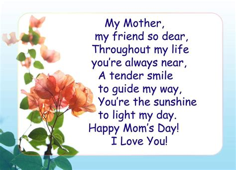 day peom s day poems mothers day poems 2017 happy mothers