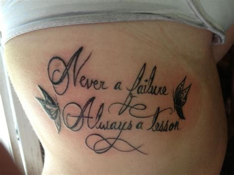 never a failure always a lesson tattoo 26 best ideas images on ideas