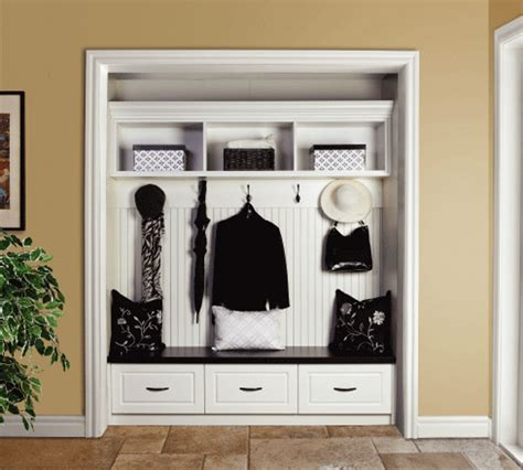 Entry Closet Organization Ideas by Entryway Organization Remove Your Closet Doors Jackie