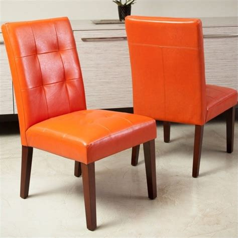 orange dining chairs trent home dashall dining chair in orange set of 2